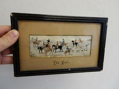 old antique PICTURE Thomas Stevens silk THE MEET