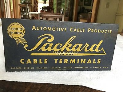 Vintage Packard Cable Terminals Box With Some Original Hardware