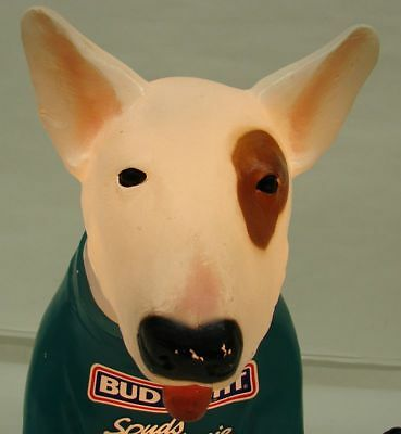 Spuds Mackenzie Bud Light Budweiser Advertising Dog Statue Lighted Display Lamp