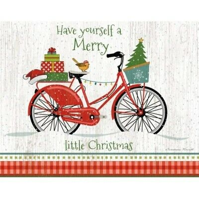 Christmas Bike 5.375 In X 6.875 In Boxed Christmas Car, Christmas Cards by Lang