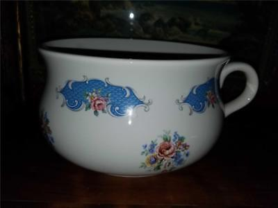 """Vintage 7"""" Chamber Pot Lord Nelson Pottery Floral Blue Pink Shabby Decor Planter"""
