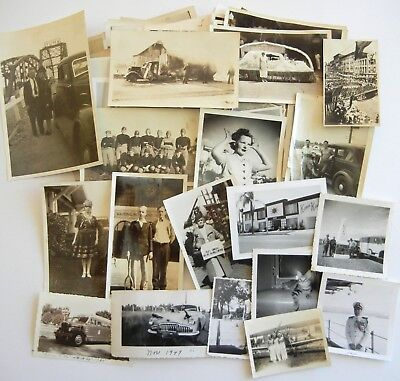 HUGE LOT of 100 Vintage SNAPSHOTS Photos OLD PHOTOGRAPHS San Diego 1920s-1950s