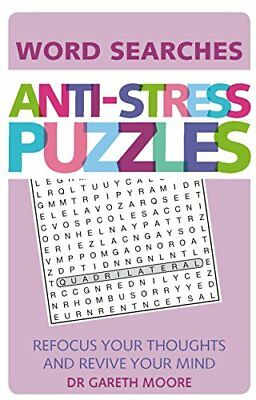 Anti-Stress Puzzles: Word Searches New Paperback Book Dr. Gareth Moore