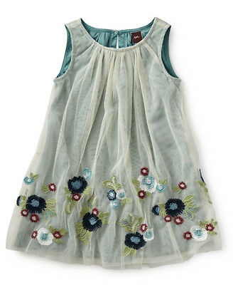 NWT Tea Collection Girls Romantica Roma Tulle & Embroidery Dress sz 3T