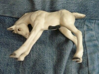 """Vintage Filly horse small JAPAN 3.75"""" White Horse NORCREST #A585 super cute!"""