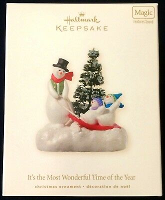 Hallmark 2008 IT'S THE MOST WONDERFUL TIME OF THE YEAR Magic Hallmark Ornament