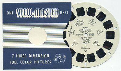 AMSTERDAM Venice of the North Holland 1953 Belgian-made ViewMaster Reel 1905