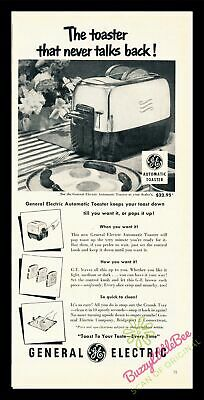 Print Ad~1952~General Electric~G.E.~Automatic Toaster~I500