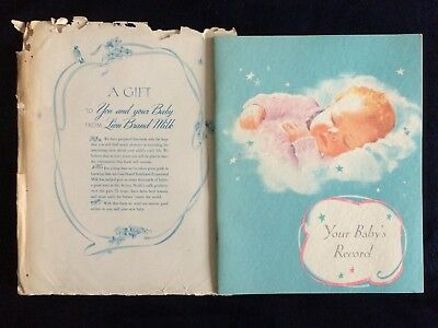 Vintage Your Baby's Record by Lion Brand Milk New 1950s Paperback Book