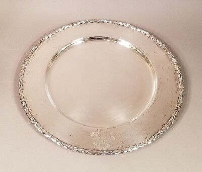 Antique Vintage G. Kirk & Son Co. Sterling Silver Charge Plate Tray 22.5 Ounces