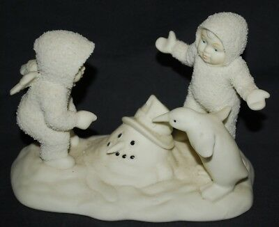 "Dept 56 Snowbabies ""WHERE DID HE GO?""  Melting Snowman #6841-1 (NO BOX)"