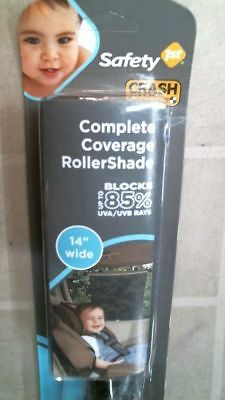"""Safety First 1st 48062 Complete Coverage Roller Car Shade, 14"""" Wide SUN BLOCK"""