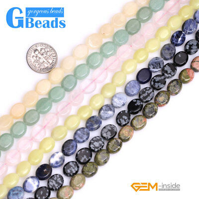 """8x10mm Natural Assorted Stones Oval Beads For Jewelry Making Free Shipping 15"""""""