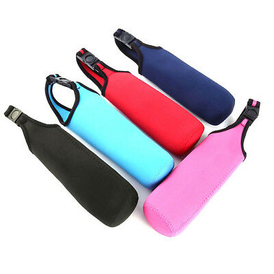 Water Bottle Carrier Insulated Cover Bag Holder Webbing Strap Sport Carrier B