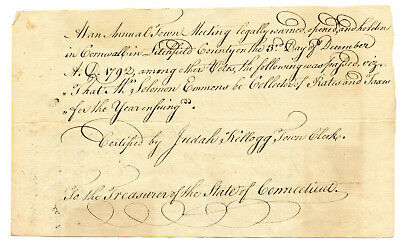 Early American Colonial Handwritten Document * Cornwall CT  December 3rd, 1792