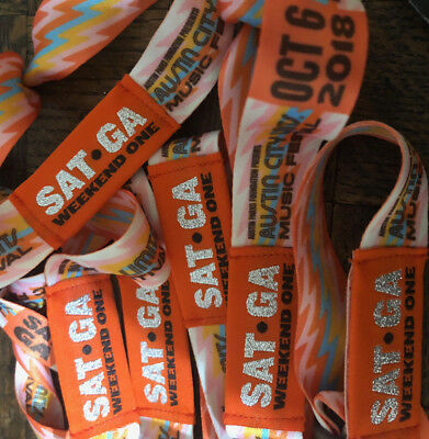 Austin City Limits Festival ACL Tickets Wristbands - SATURDAY OCT 6 - Weekend 1