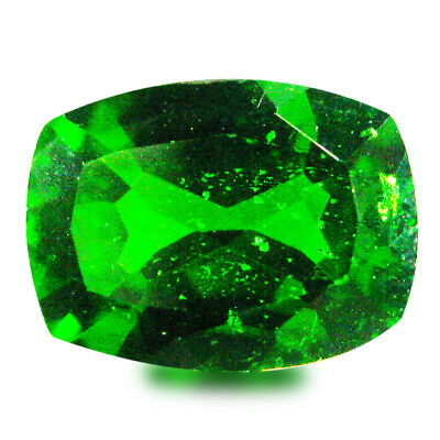1.61 ct AAA+ Significant Cushion Shape (8 x 6 mm) Green Chrome Diopside Gemstone