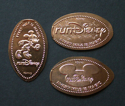 OTH08 - 3 pressed pennies Disney World RUN DISNEY ESPN Wide World