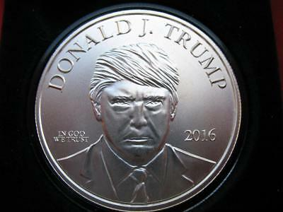 1-Oz.999 Silver Donald Trump 45Th President  Make America Great Again Coin+Gold