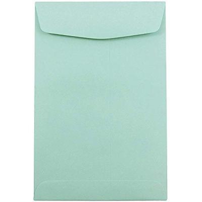6 X 9 Open End Catalog Premium Envelopes - Aqua Blue 100/Pack