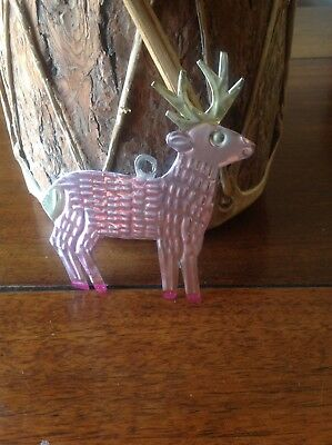 Hand-Punched Tin Ornament Buck Deer Colorful Mexican Folk Art Mexico Sticker