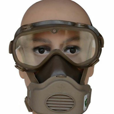 Full Face Gas Mask Goggles Respirator Chemical Dust Smoke Fire Paint Protector