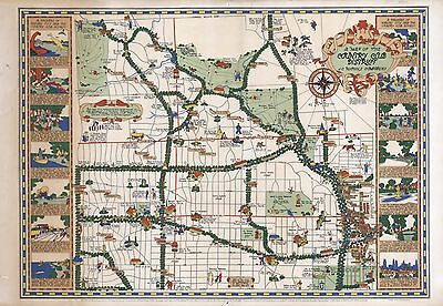 1930 PICTORIAL map Country Club District Kansas City Missouri POSTER 7979