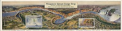 1927 pictorial map Niagara Great Gorge Trip Falls Railroad POSTER 8935002