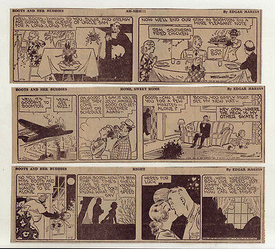 Boots & Her Buddies by Edgar Martin - 25 daily comic strips from April 1943