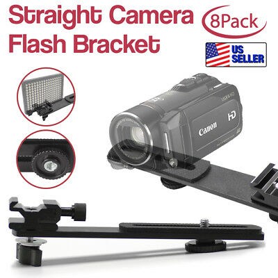 "8Pack|6.3"" Straight Flash Bracket 1/4""-20 Screw Hot Shoe Mount for Camera Tripod"