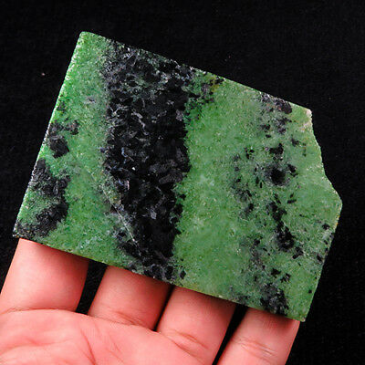 632.5Ct 100% Natural Red Green Bi Color Ruby In Zoisite Rough Specimen YGB66
