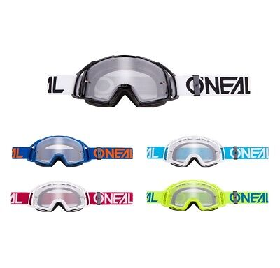 Oneal B-20 Crossbrille Enduro DH MX Motocross Brille FLAT Klarglas