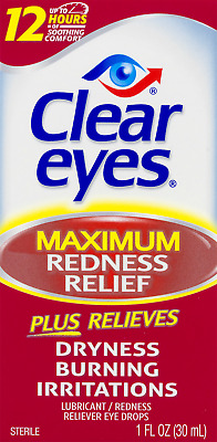 Clear Eyes Maximum Redness Relief Eye Drops 1.0 Fl. Oz