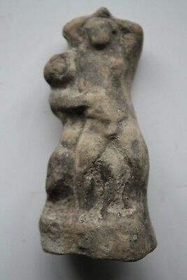 ANCIENT GREEK HELLENISTIC POTTERY TERRACOTTA FIGURE GROUP 3rd CENTURY BC