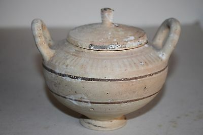 ANCIENT GREEK HELLENISTIC  POTTERY LEBES GAMIKOS 3rd CENT BC