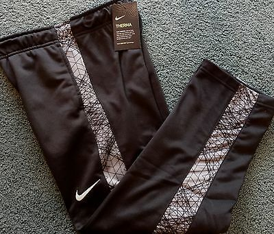 NWT Nike Boys Youth YMD Black/Gray Graphic Lines Therma-Fit Sweat Pants Medium