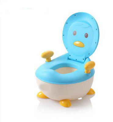A1 Blue Penguin Plastic Children Baby Toilet Training Children Article Bathroom