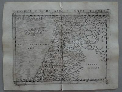 Holy Land Cyprus copper map Claudius Ptolemaeus Geografia Münster 1548