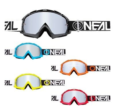 Oneal B-10 Crossbrille Enduro DH MX Motocross Brille TWOFACE verspiegelt