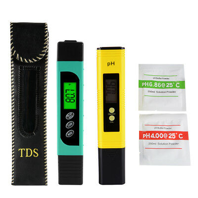 Digital pH Meter + LCD TDS Water Purity PPM Filter Hydroponic Tester Pen BI715