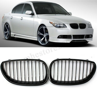 Air Intake Gloss Black Kidney Grille Grill For BMW E60 E61 5-Series 2003-2010
