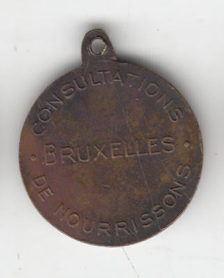 Gb Brussels Princess Marie Token C1910 Scarce     112A           By Coinmountain