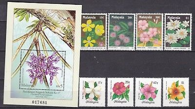 Malaysia Flower Commemoratives Inc S/s (34) Mint Never Hinged