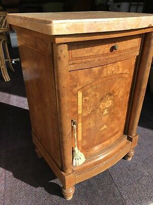 Inlaid Marble Topped Pot Cupboard