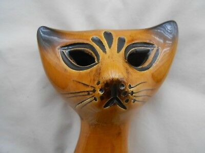 vintage retro MID CENTURY 1960-70'S ART DECO ELLIS POTTERY CAT....