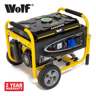 Petrol Generator 3200w with Wheel Kit 4kva 7HP 230v Portable 4 Stroke Inverter
