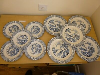 10 Wood & Sons Yuan Plates - 5 x Dinner Plates - 5 x 7.75 inch Plates - Vintage