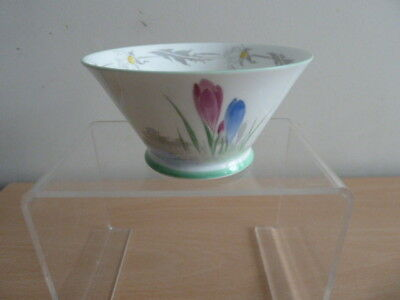 Pretty Shelley Eve Shaped Sugar Bowl Crocus Design.