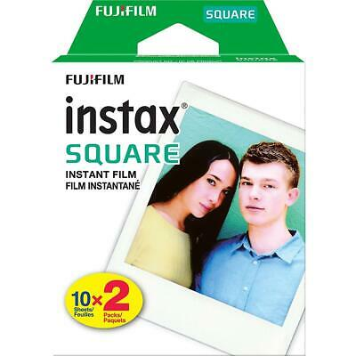Fujifilm instax SQUARE Instant Color Film, Twin Pack - 20 Exposures, White Frame