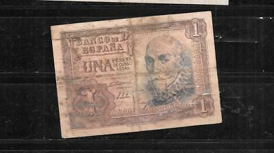 SPAIN SPANISH #144a 1053 PESETA VG CIRC OLD BANKNOTE PAPER MONEY CURRENCY  NOTE